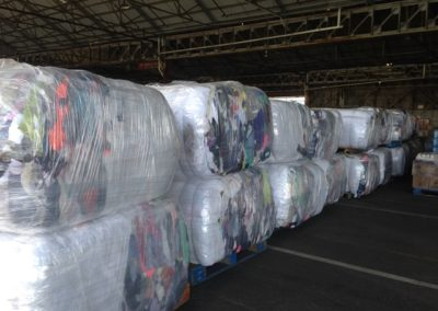 Cargo for Kiritimati, 36 used clothing bales