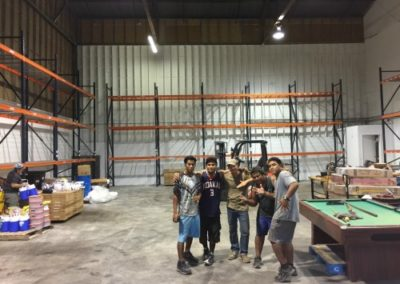 New Warehouse and crew