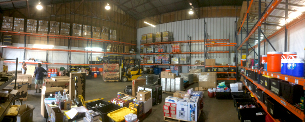 2018, Our new Warehouse, just starting to fill up