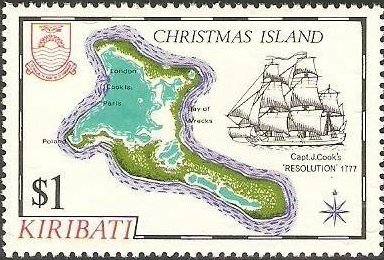 Old Stamp from Christmas Island, Kiribati